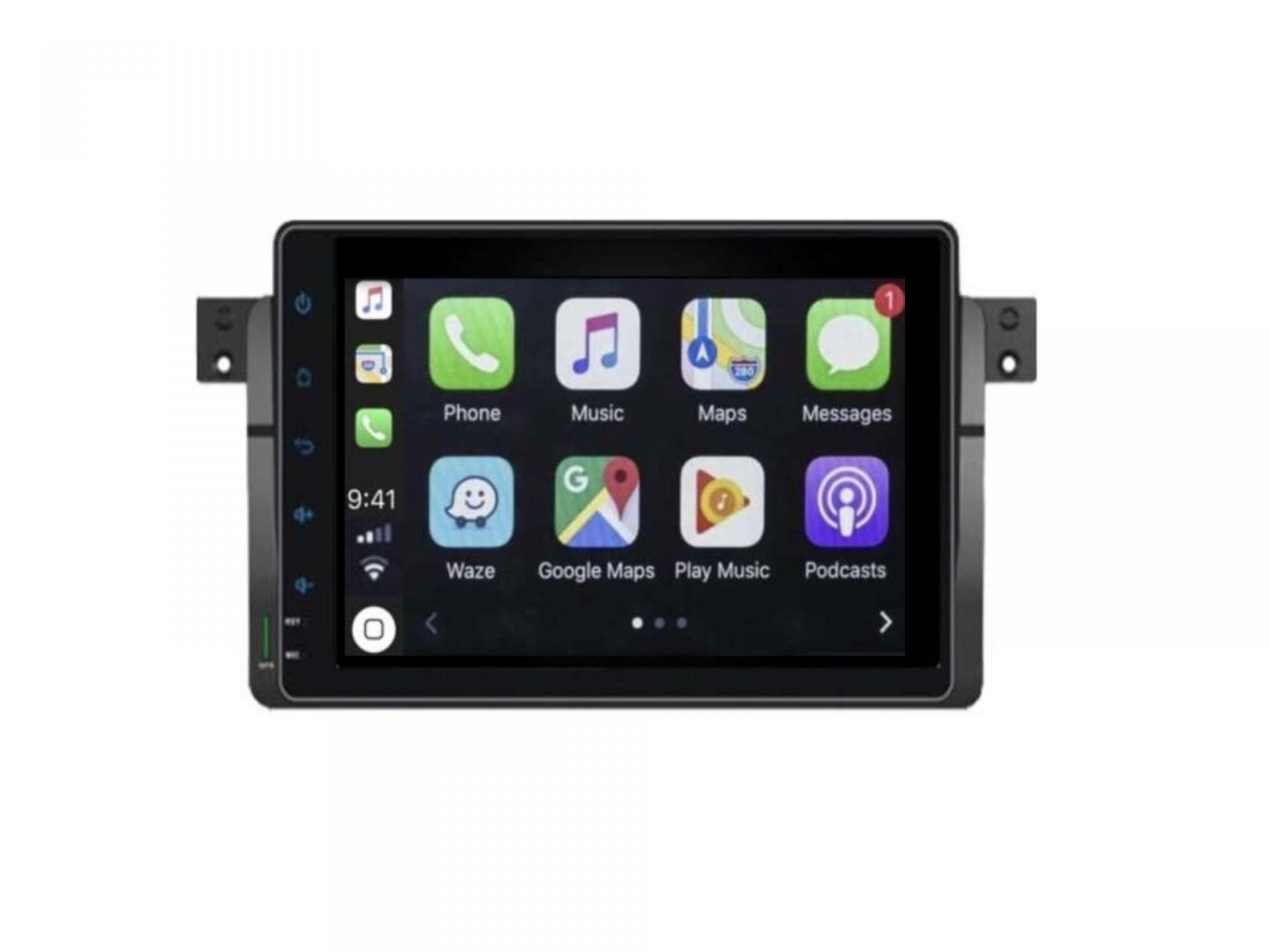 Autoradio gps carplay android auto bluetooth bmw serie 3 e46 harman kardon 6