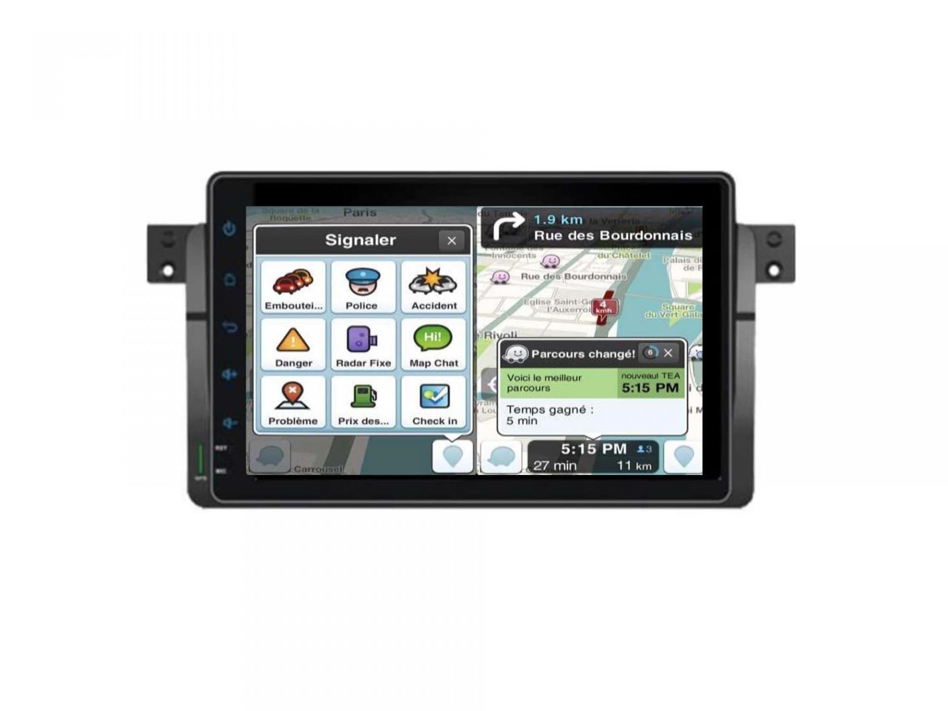 Autoradio gps carplay android auto bluetooth bmw serie 3 e46 harman kardon 8