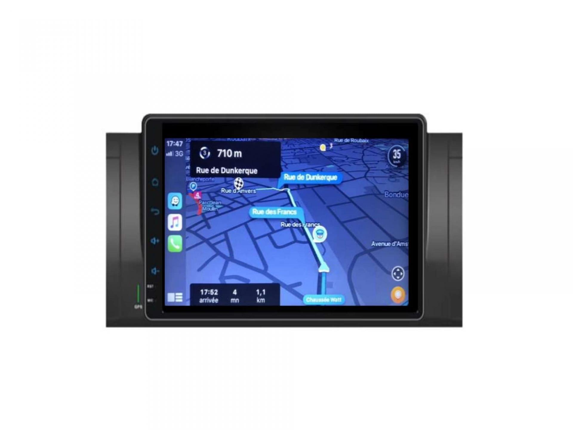 Autoradio gps carplay android auto bluetooth bmw serie 5 e39 m5 x5 e53 serie 7 e38 10