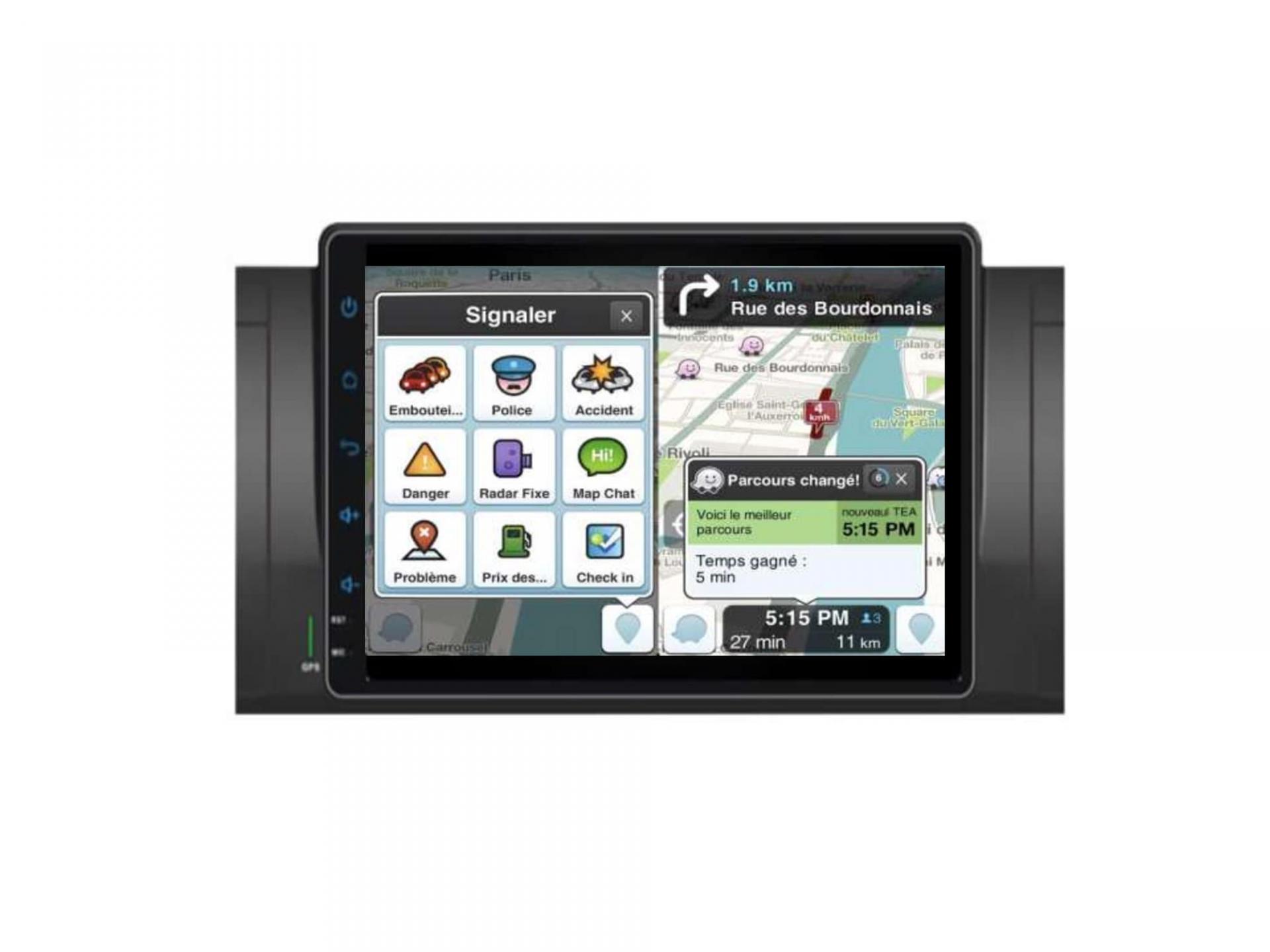 Autoradio gps carplay android auto bluetooth bmw serie 5 e39 m5 x5 e53 serie 7 e38 11
