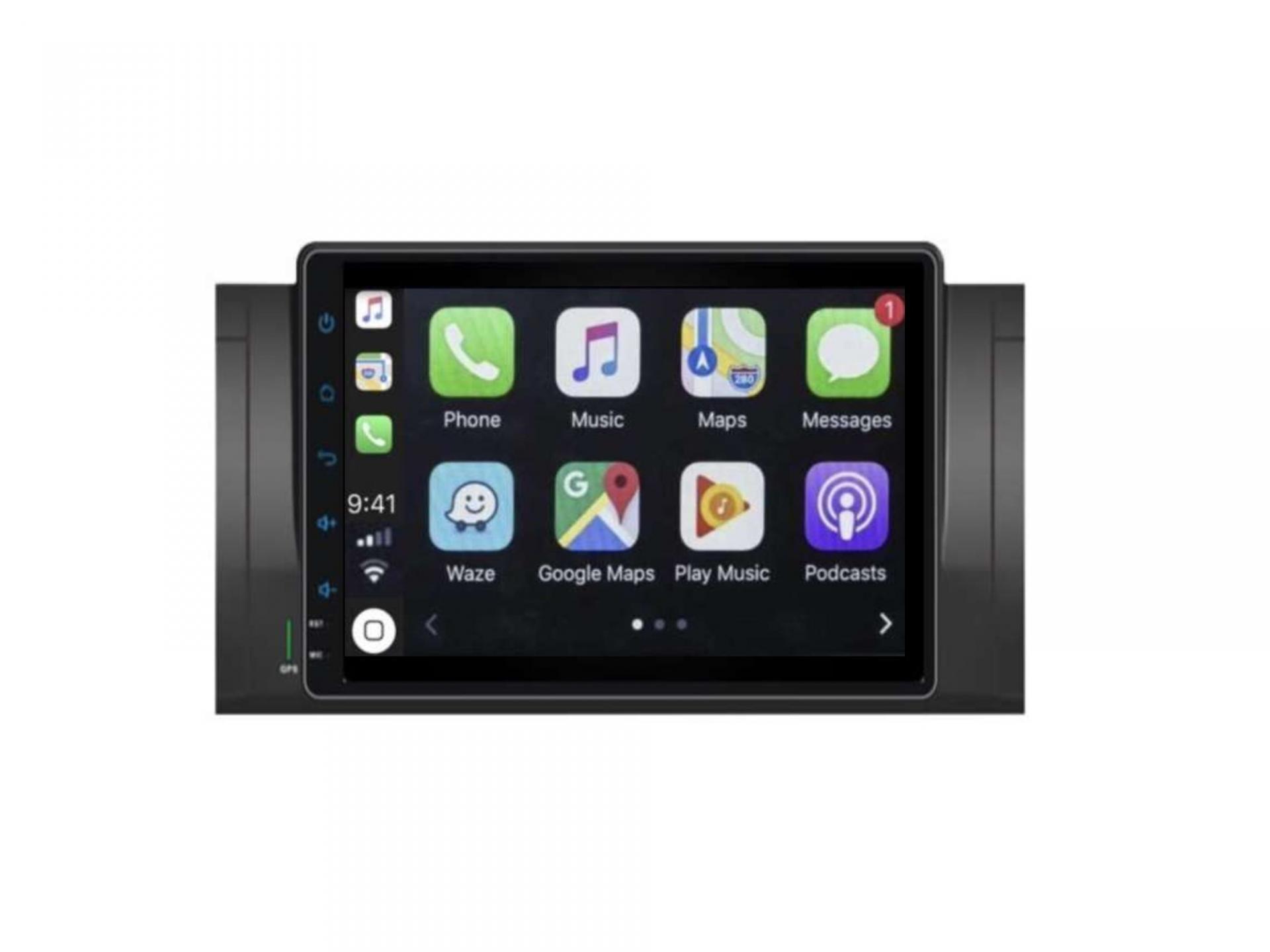 Autoradio gps carplay android auto bluetooth bmw serie 5 e39 m5 x5 e53 serie 7 e38 7 1