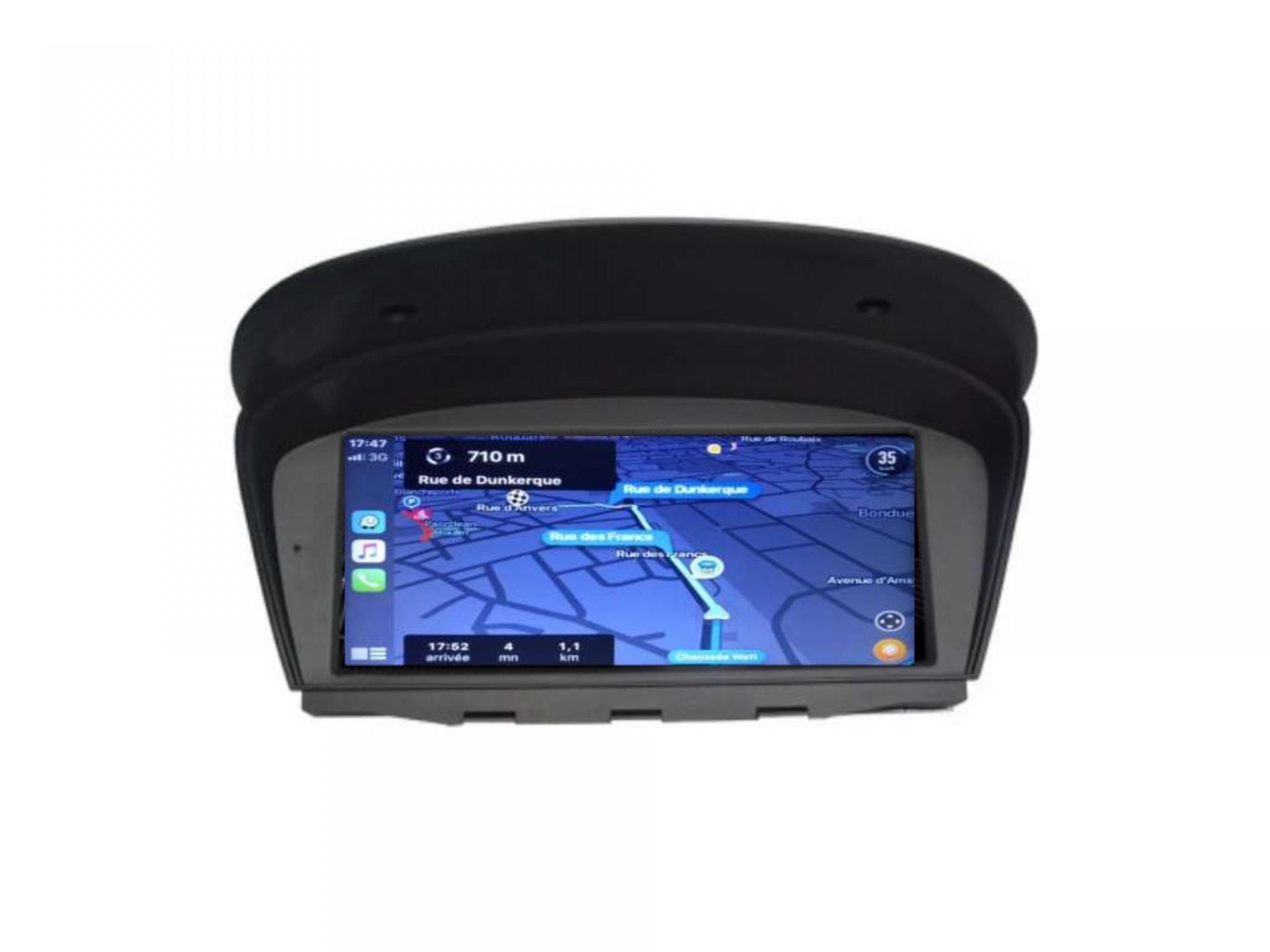 Autoradio gps carplay android auto bluetooth bmw serie 5 m5 e60 serie 6 e63 e64 serie 3 e90 5