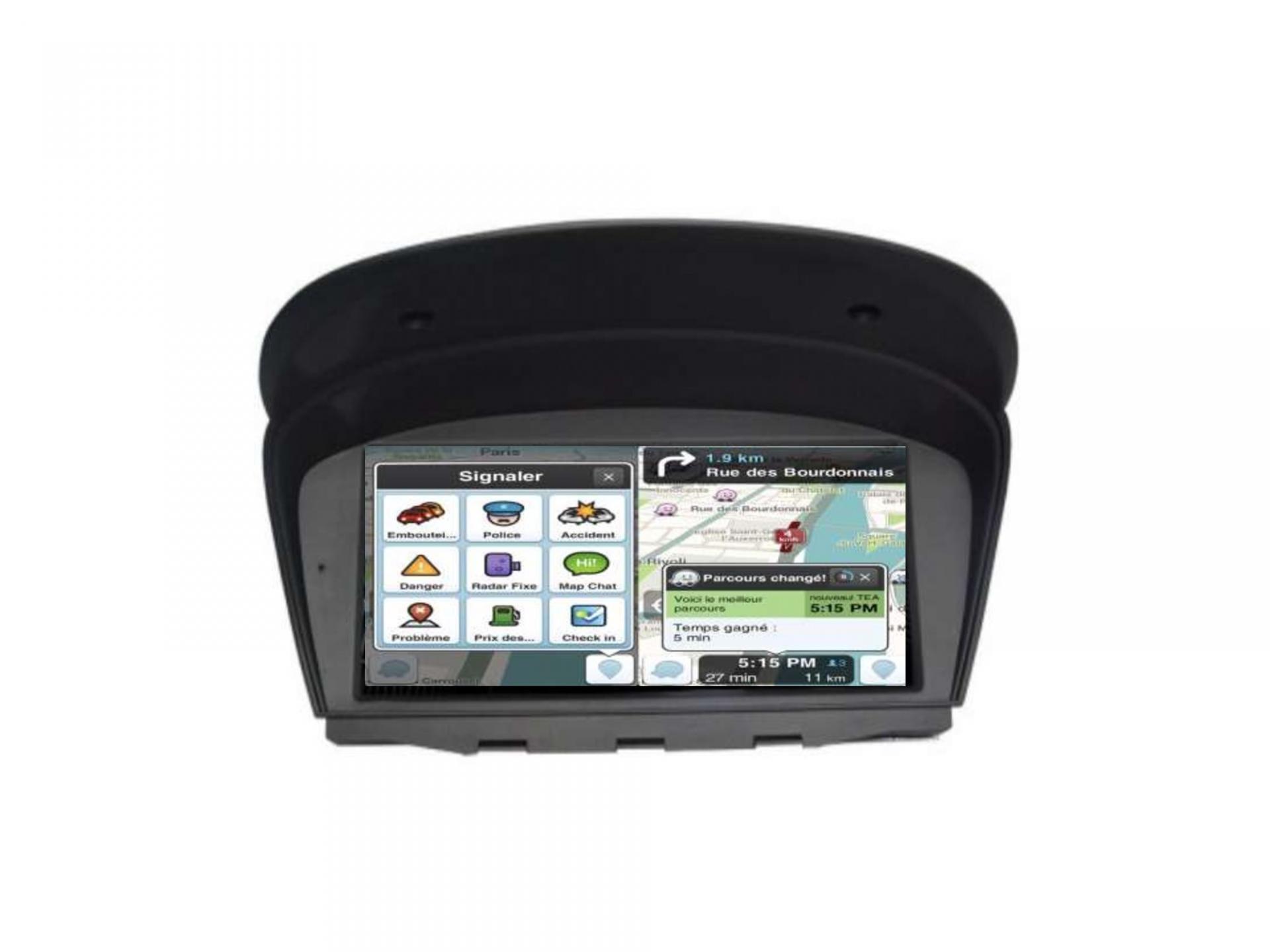 Autoradio gps carplay android auto bluetooth bmw serie 5 m5 e60 serie 6 e63 e64 serie 3 e90 6