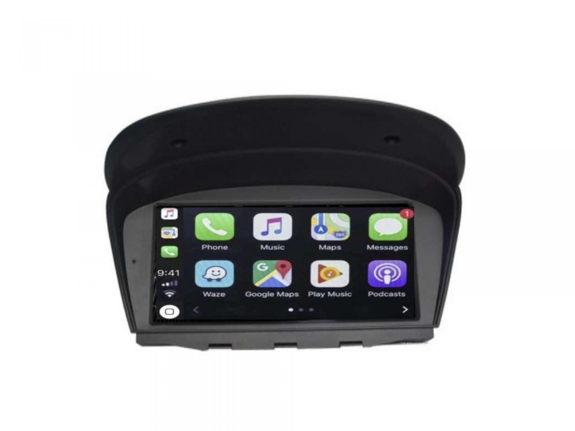 Autoradio gps carplay android auto bluetooth bmw serie 5 m5 e60 serie 6 e63 e64 serie 3 e90 7