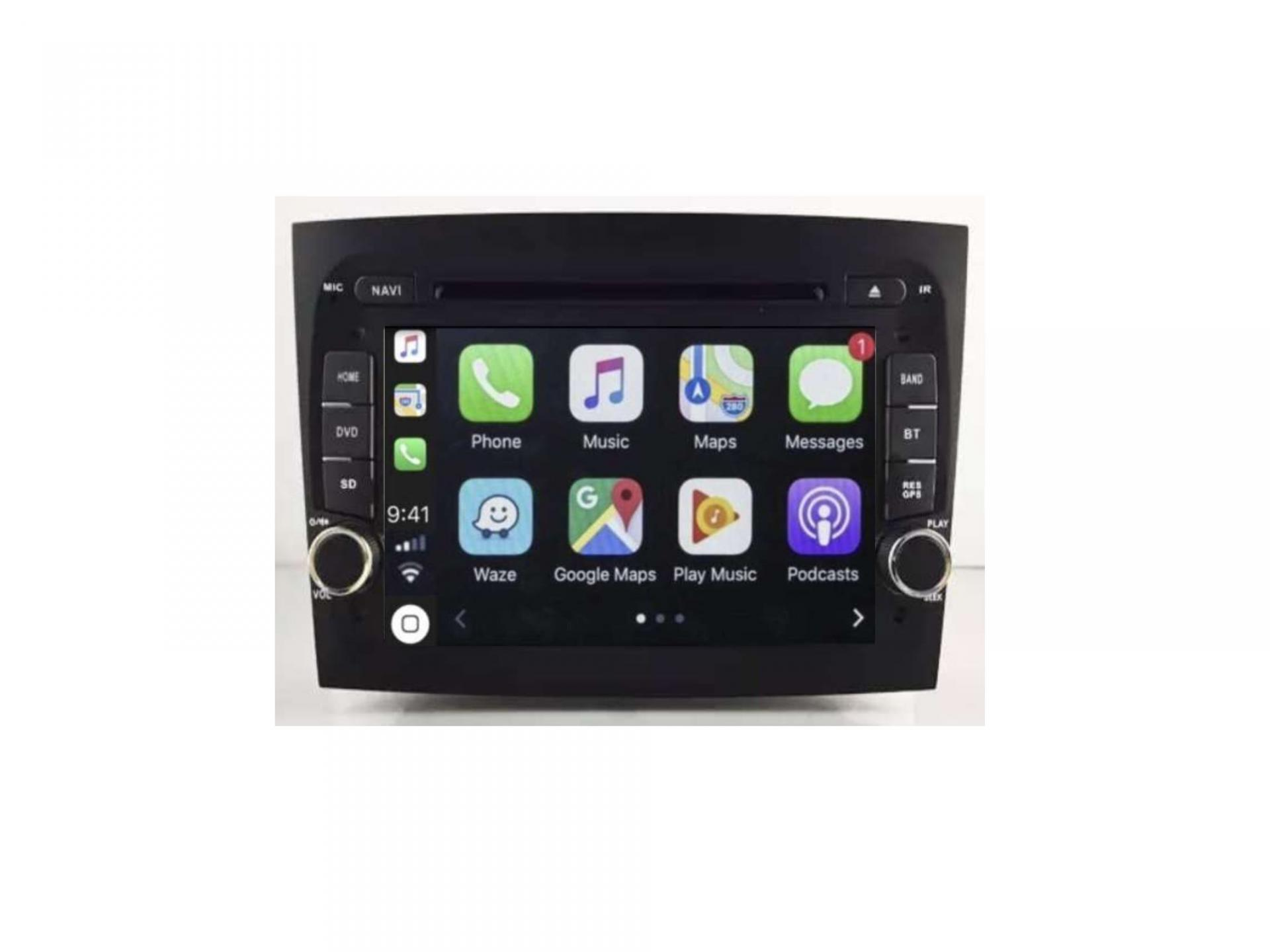 Autoradio gps carplay android auto bluetooth fiat doblo 2
