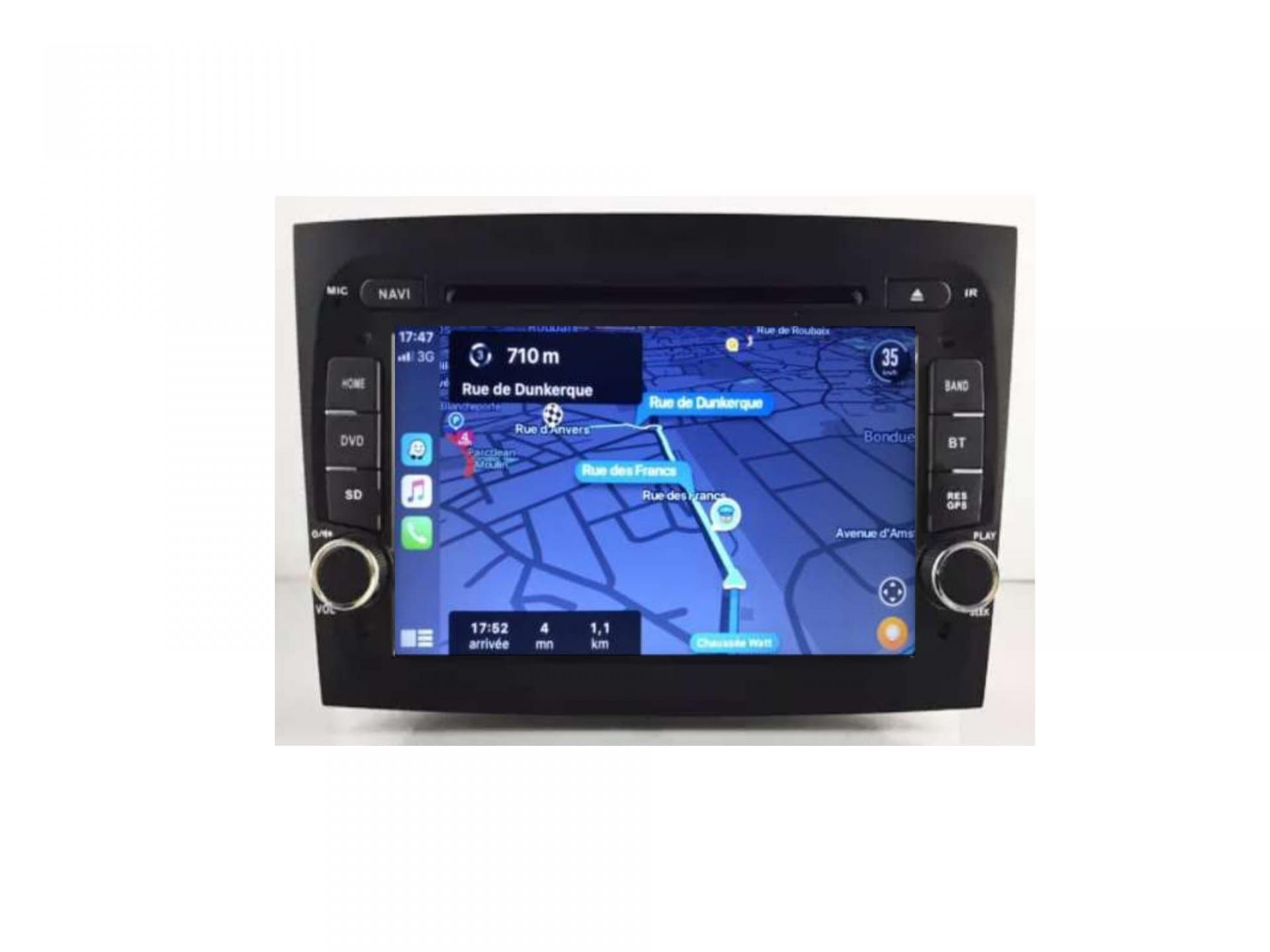 Autoradio gps carplay android auto bluetooth fiat doblo 4