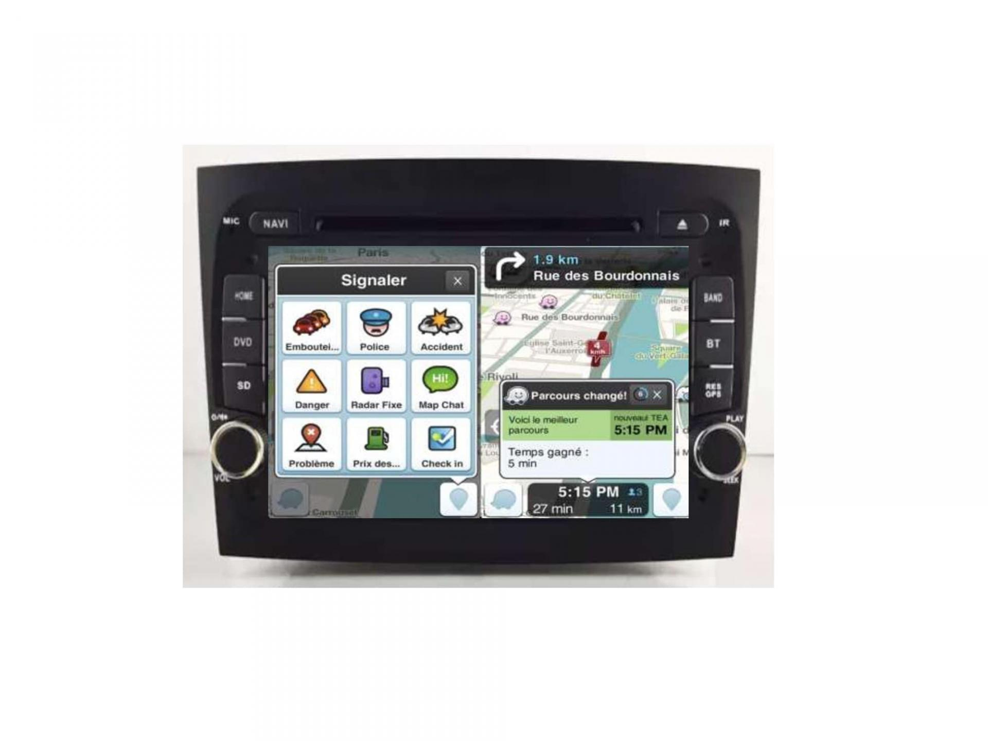 Autoradio gps carplay android auto bluetooth fiat doblo 5