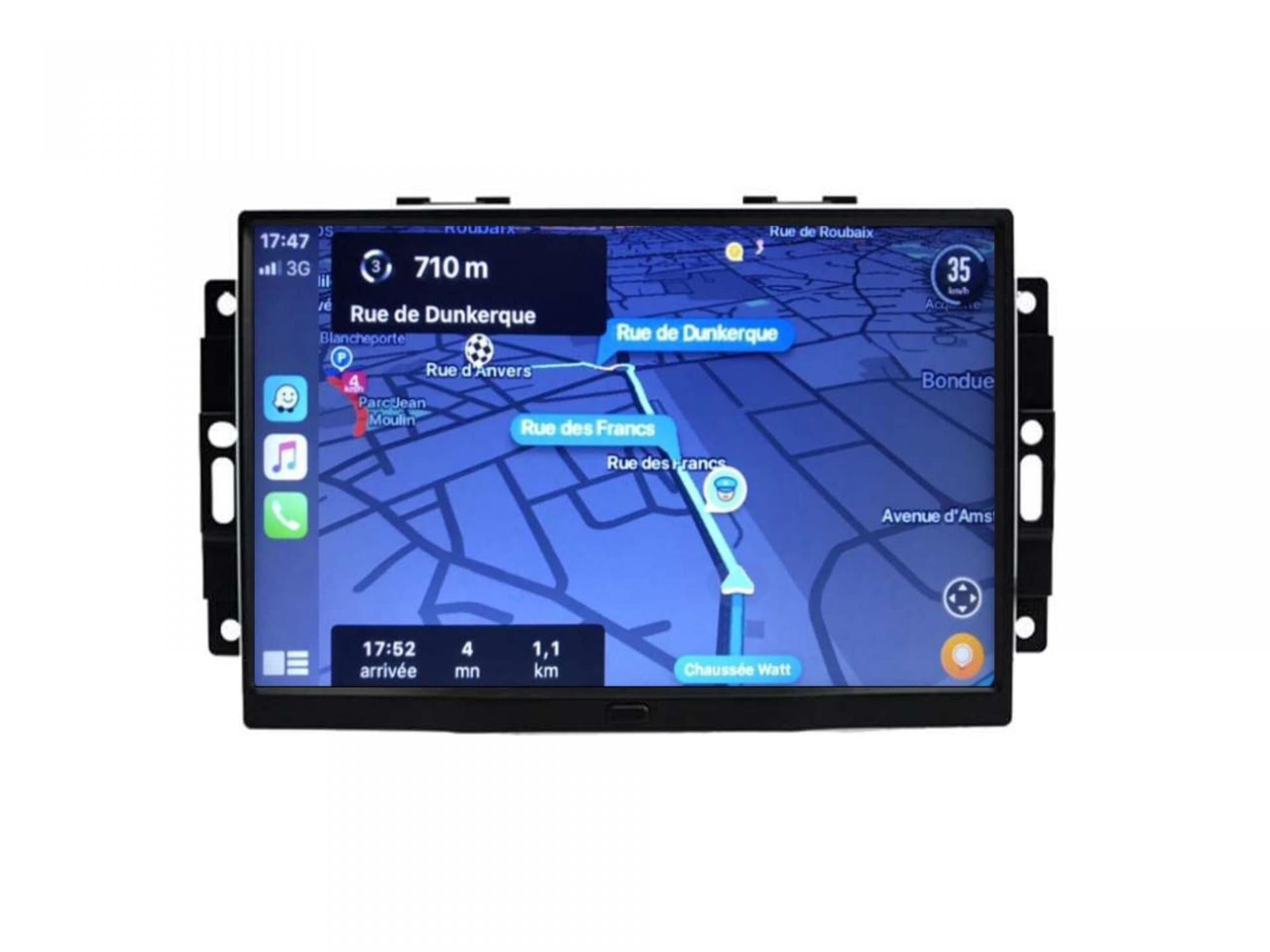 Autoradio gps carplay android auto bluetooth jeep chrysler 300c chrysler aspen remplace autoradio 1