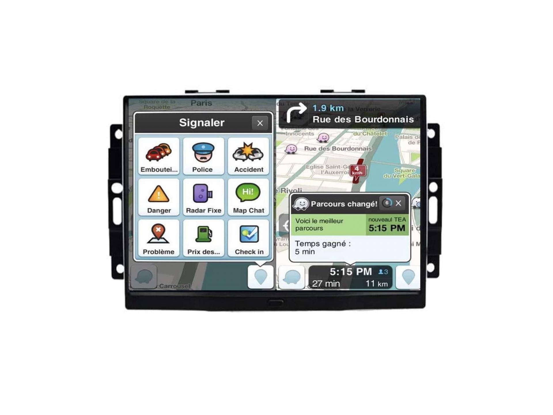 Autoradio gps carplay android auto bluetooth jeep grand cherokee compass commander 2006 2010 1