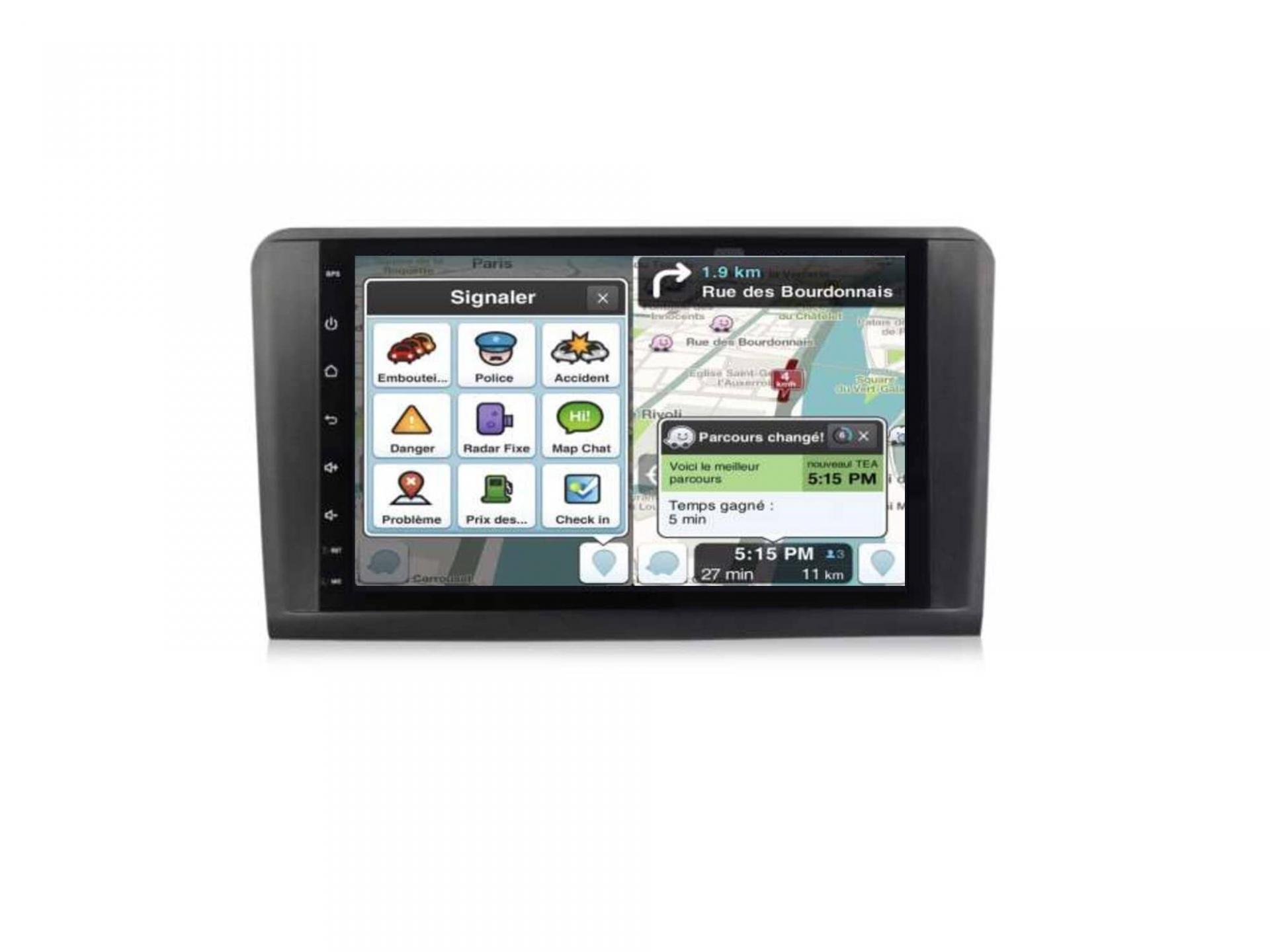 Autoradio gps carplay android auto bluetooth mercedes ml w164 gl x164 1