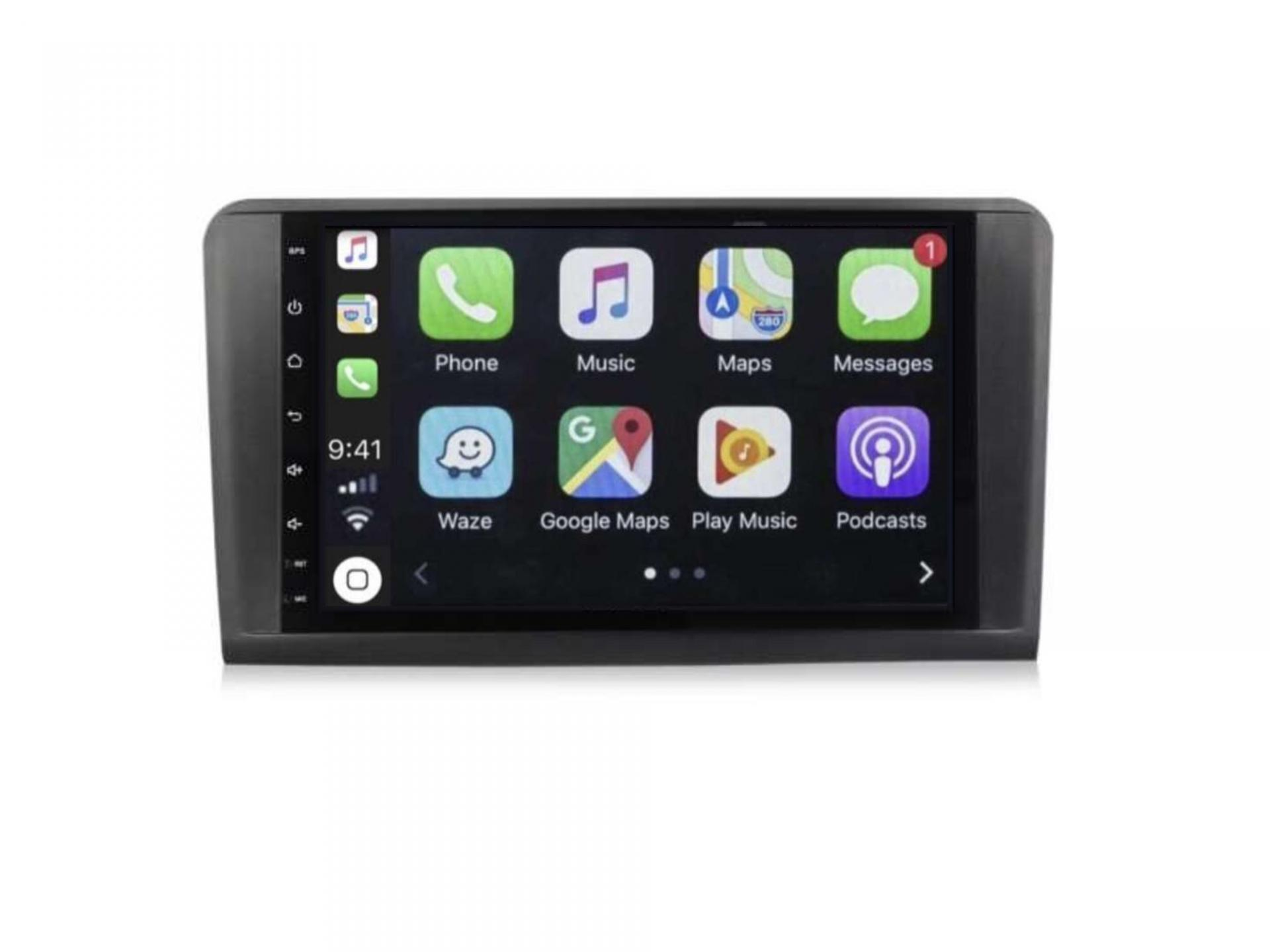 Autoradio gps carplay android auto bluetooth mercedes ml w164 gl x164 3