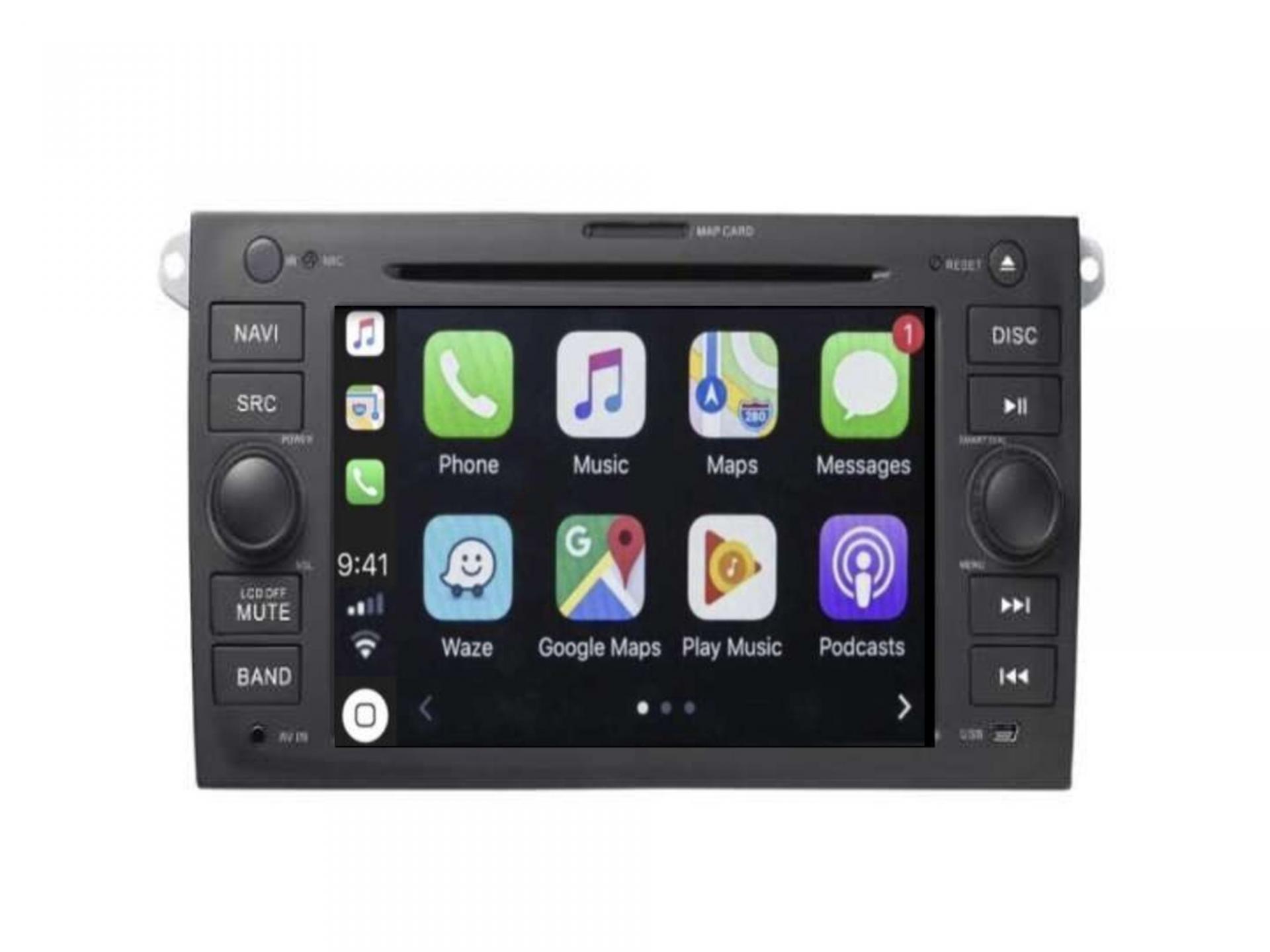 Autoradio gps carplay android auto bluetooth porsche cayenne 8