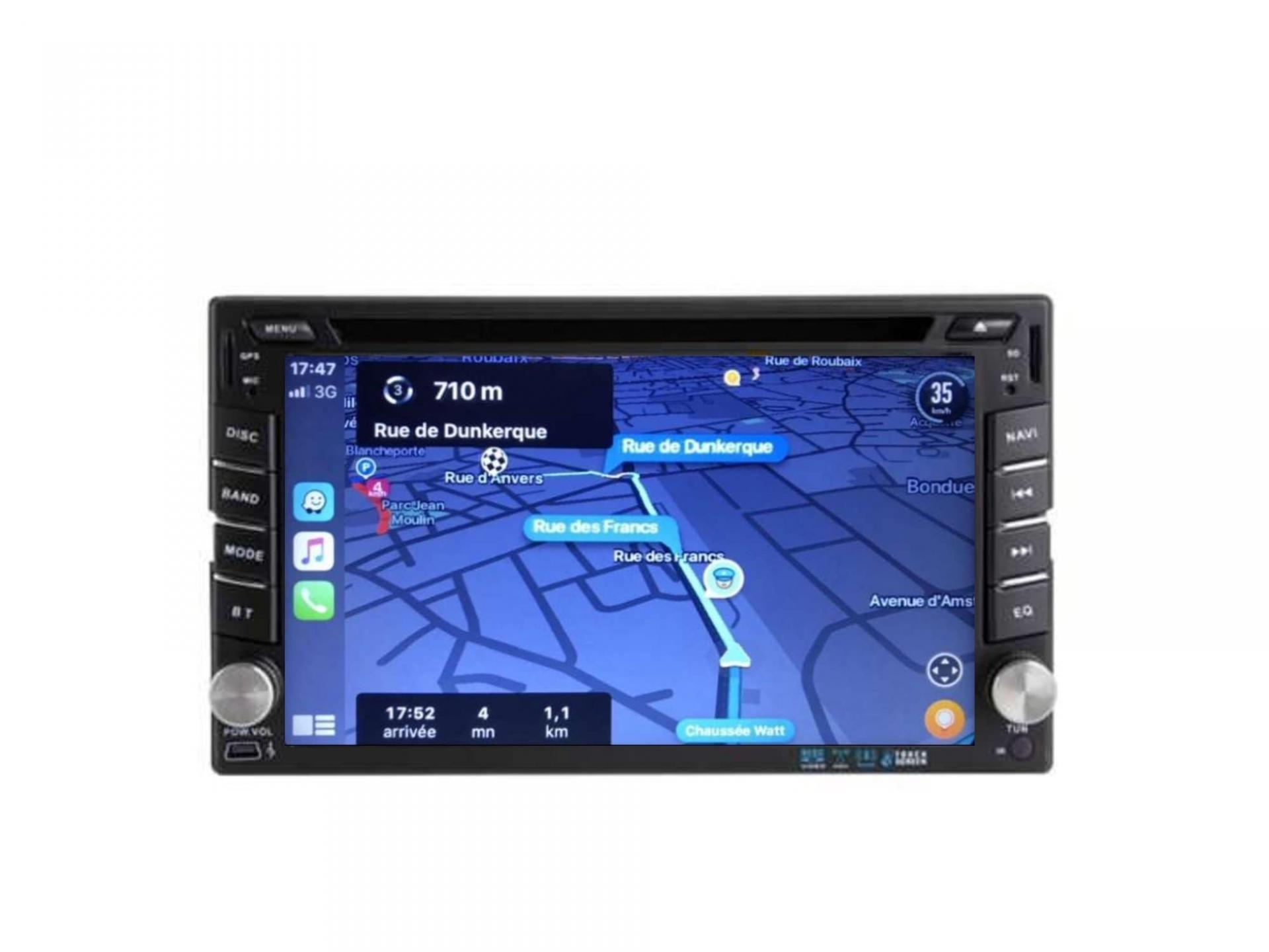 Autoradio gps carplay android auto bluetooth vw golf 4 polo passat bora sharan t4 t5 crafter transporter 17