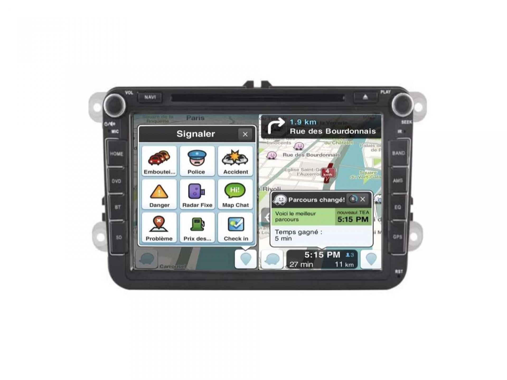 Autoradio gps carplay android auto bluetooth vw golf 5 6 touran tiguan passat transporter t5 t6 polo scirocco beetle eos 5 1