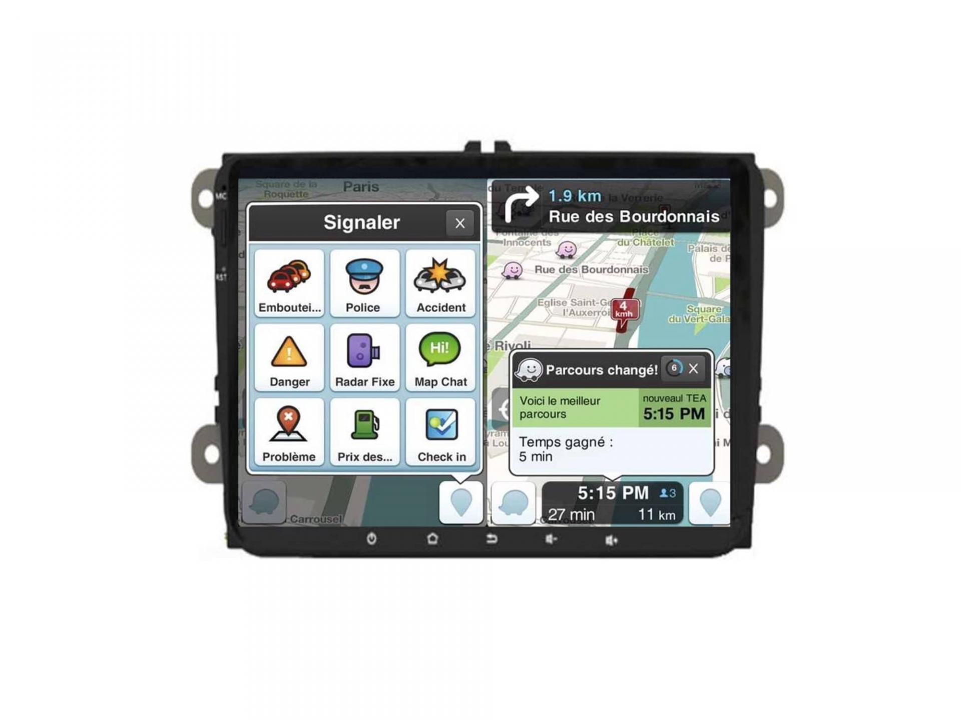 Autoradio gps carplay android auto bluetooth vw golf 5 6 touran tiguan passat transporter t5 t6 polo scirocco beetle eos 6