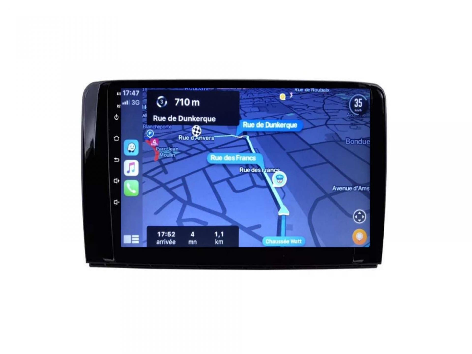 Autoradio gps carplay android auto bluetooth wifi mercedes classe r w251 r280 r300 r350 r63 3
