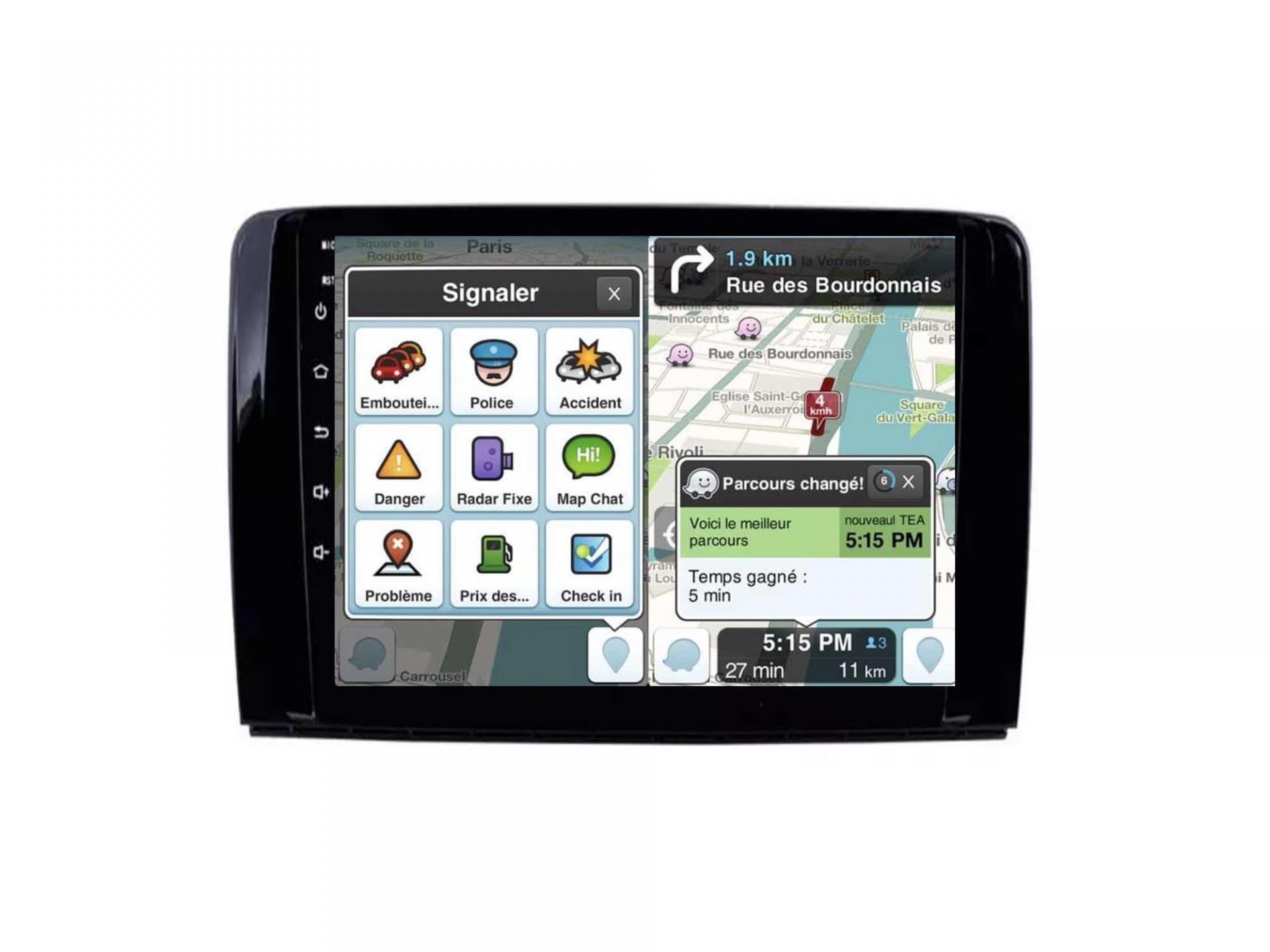 Autoradio gps carplay android auto bluetooth wifi mercedes classe r w251 r280 r300 r350 r63 5