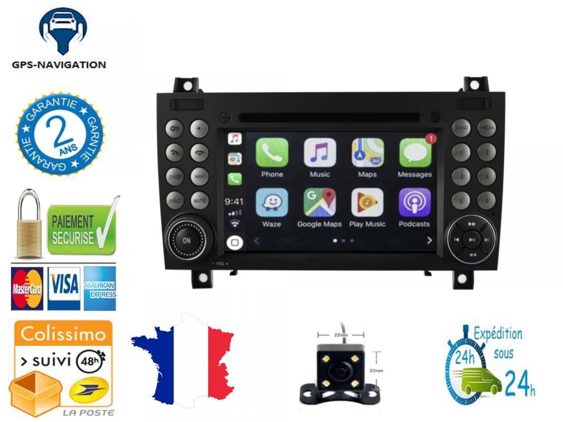 Autoradio gps carplay android auto gps bluetooth 1