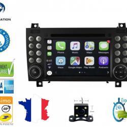 Autoradio Android tactile GPS Bluetooth Mercedes Classe SLK R170 et SLK R171 + caméra de recul