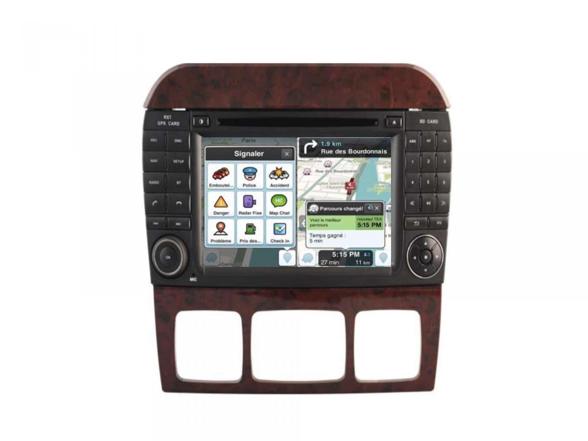 Autoradio gps carplay android auto gps bluetooth mercedes classe s w220 classe cl w215 1