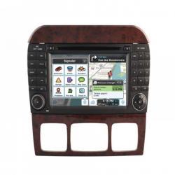 Autoradio Android tactile GPS Bluetooth Mercedes Classe S  W220, Classe CL W215 + caméra de recul