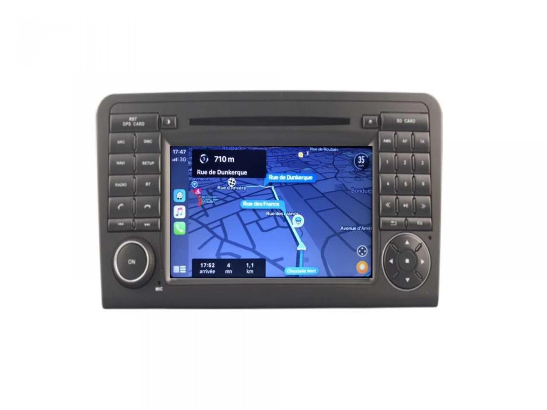 Autoradio gps carplay android auto gps bluetooth mercedes ml w164 1