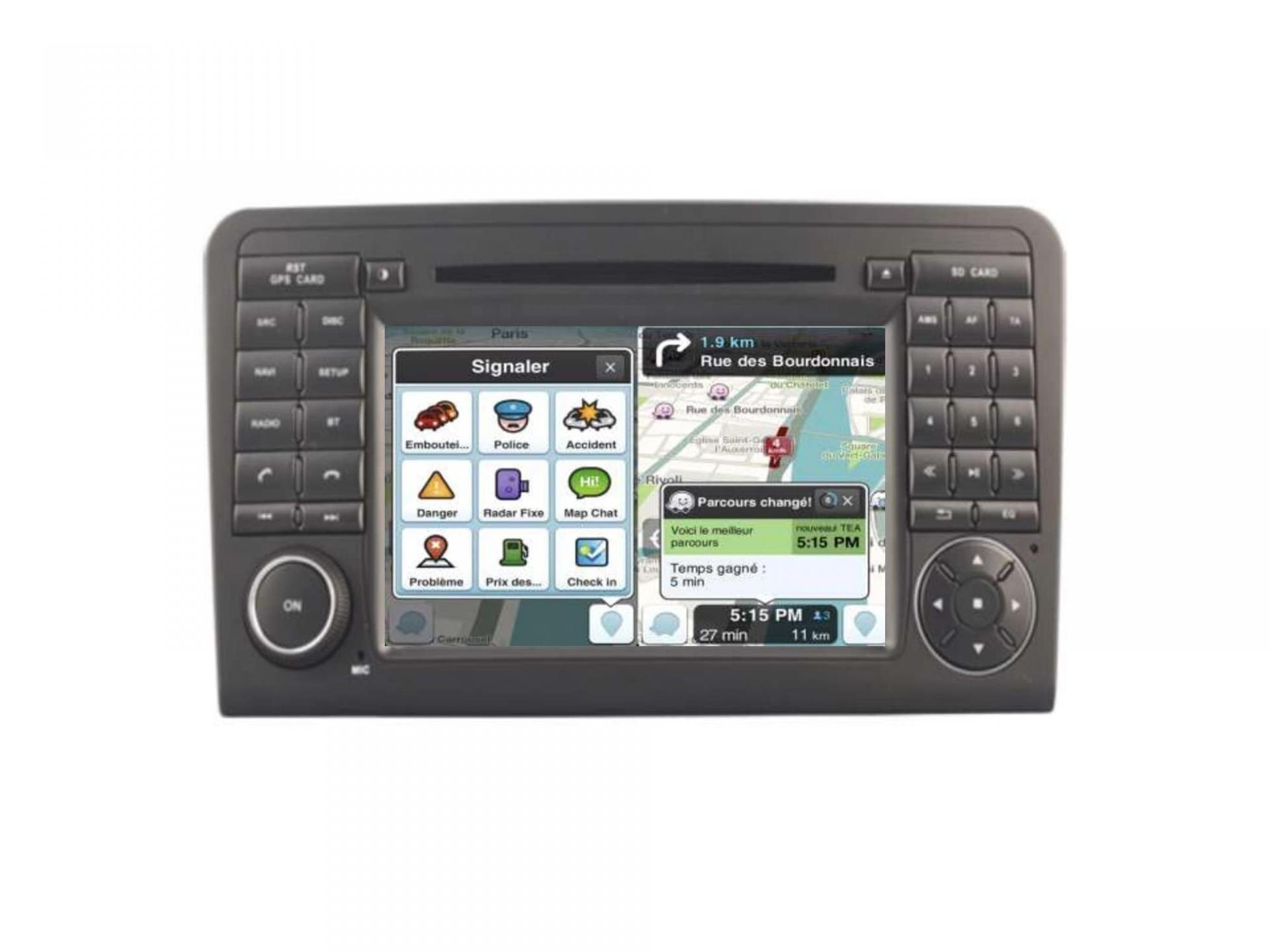 Autoradio gps carplay android auto gps bluetooth mercedes ml w164 3