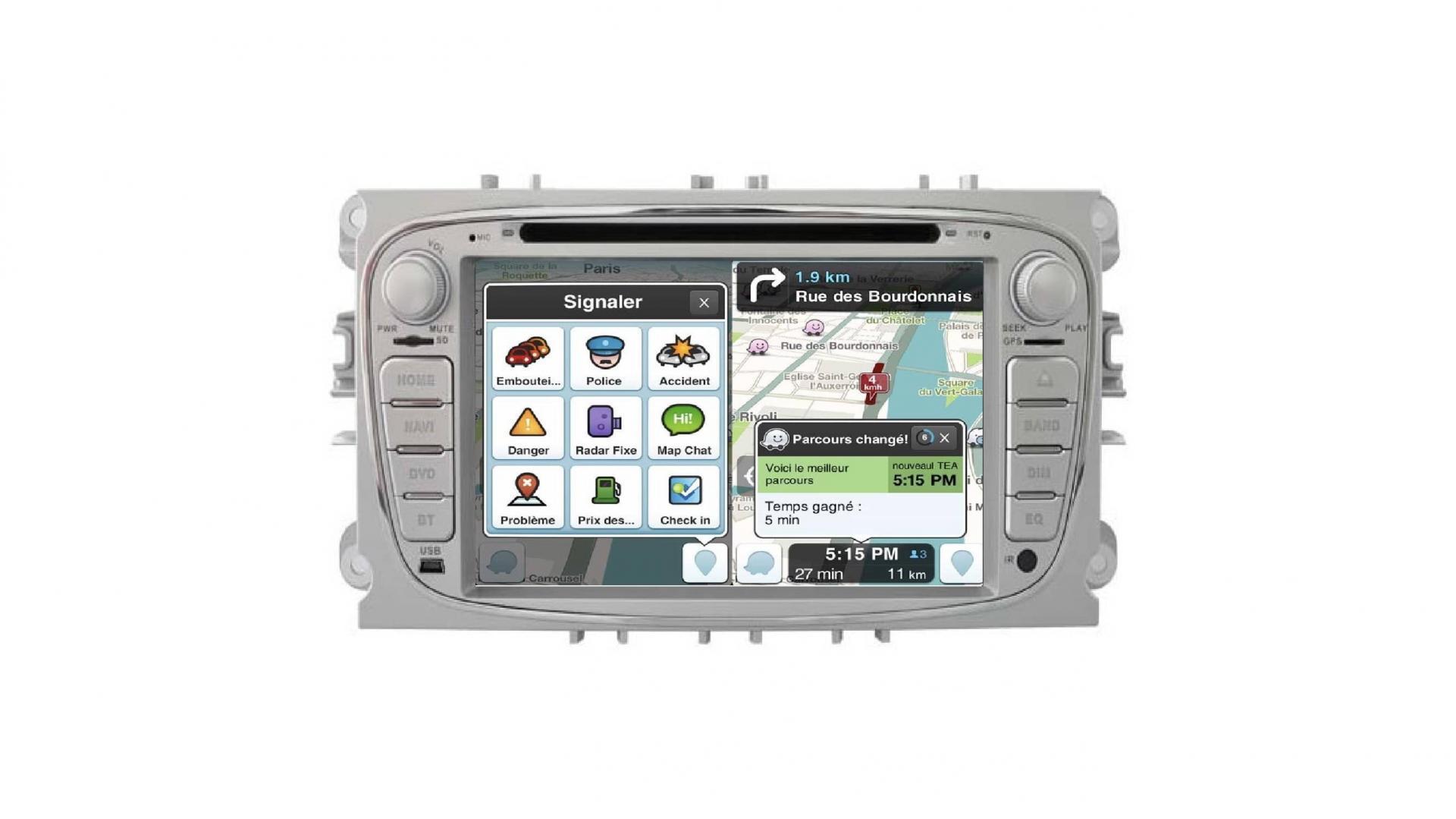 Autoradio s max galaxy mondeo focus autoradio gps bluetooth android auto carplay camera de recul commande au volant3