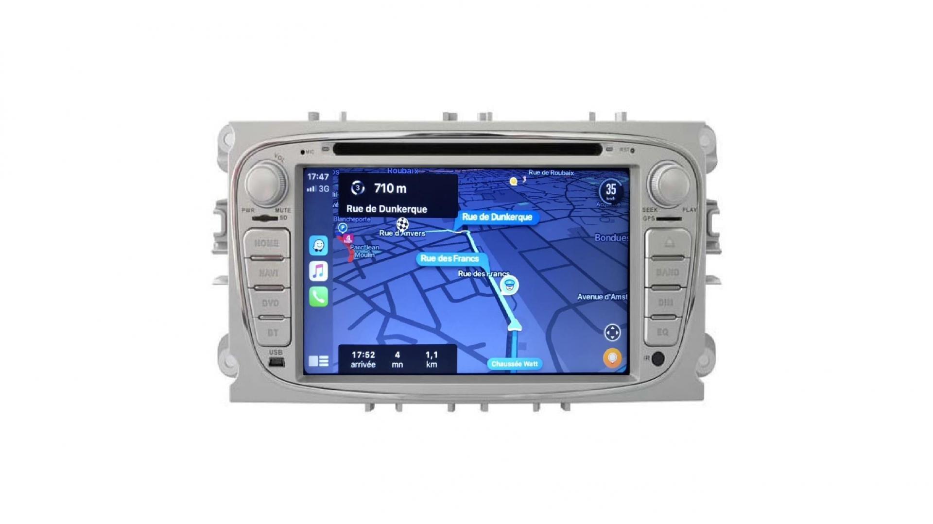 Autoradio s max galaxy mondeo focus autoradio gps bluetooth android auto carplay camera de recul commande au volant4