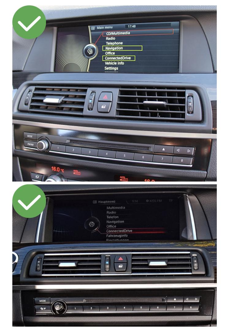 Bmw f20 21 7 f06 f12 g11 carplay android auto gps autoradio i3 x3 m3 m5 x1 f48 x2 f39 2010 2011 2012 2013 2014 2015 2016 2017 2018 2019 audi a3 ds4 e84 camera de recul commande au