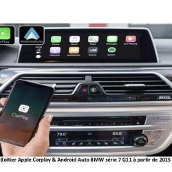 Boîtier Apple Carplay & Android Auto sans fil pour BMW série 7 G11 à partir de 2015
