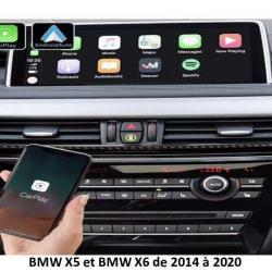 Boîtier Apple Carplay & Android Auto sans fil pour BMW X5 et BMW X6 de 2014 à 2020