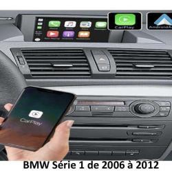 Boîtier Apple Carplay & Android Auto sans fil pour BMW Série 1 de 2006 à 2012