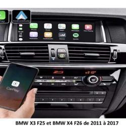 Boîtier Apple Carplay & Android Auto sans fil pour BMW X3 F25 et BMW X4 F26 de 2011 à 2017