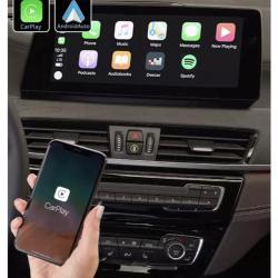 Boîtier Apple Carplay & Android Auto sans fil pour BMW X2 F39 depuis 2018 et BMW X1 F48 depuis 2016