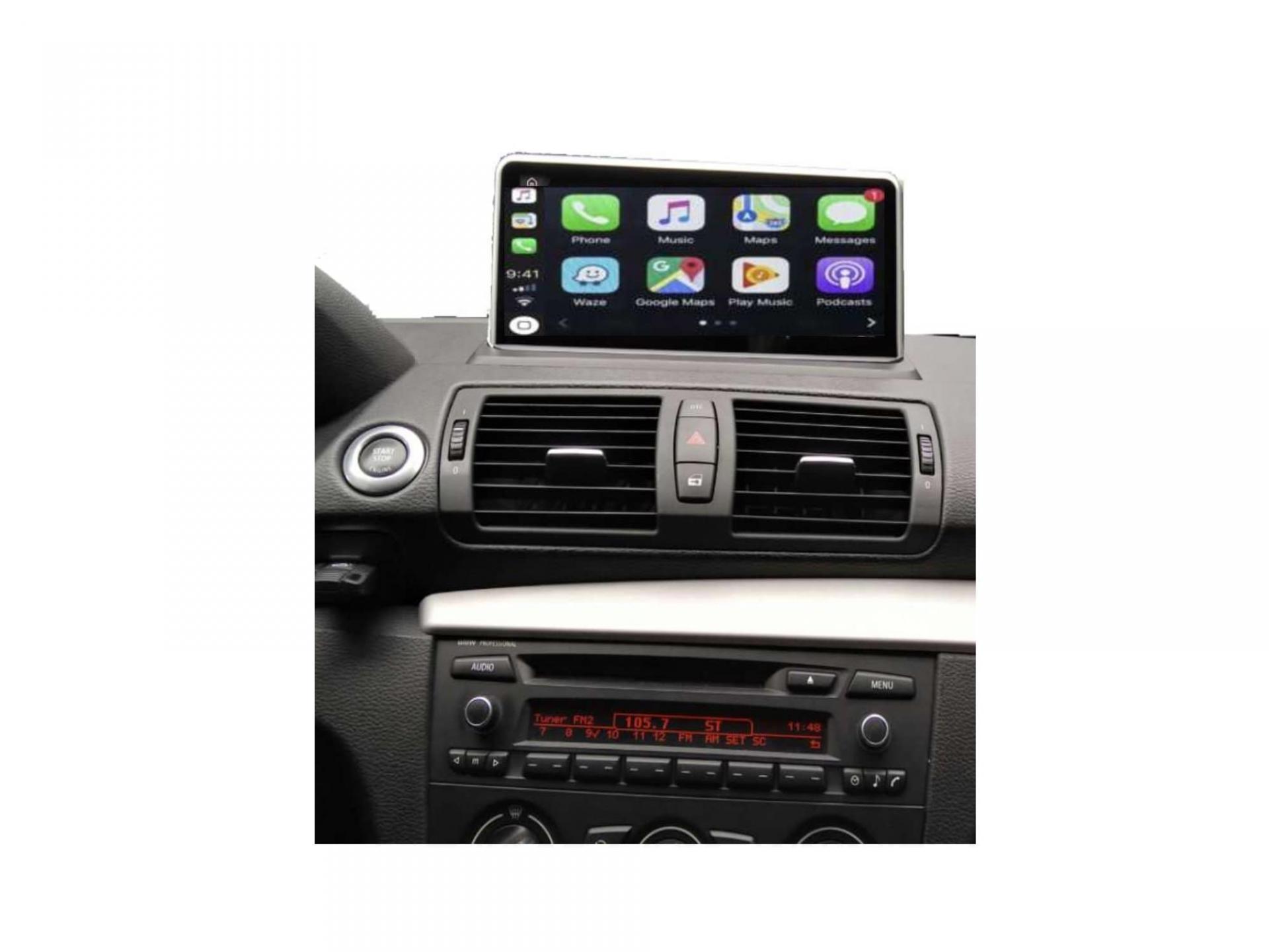 Bmw serie 1 e81 e82 e87 e88 autoradio gps carplay android auto bluetooth 3
