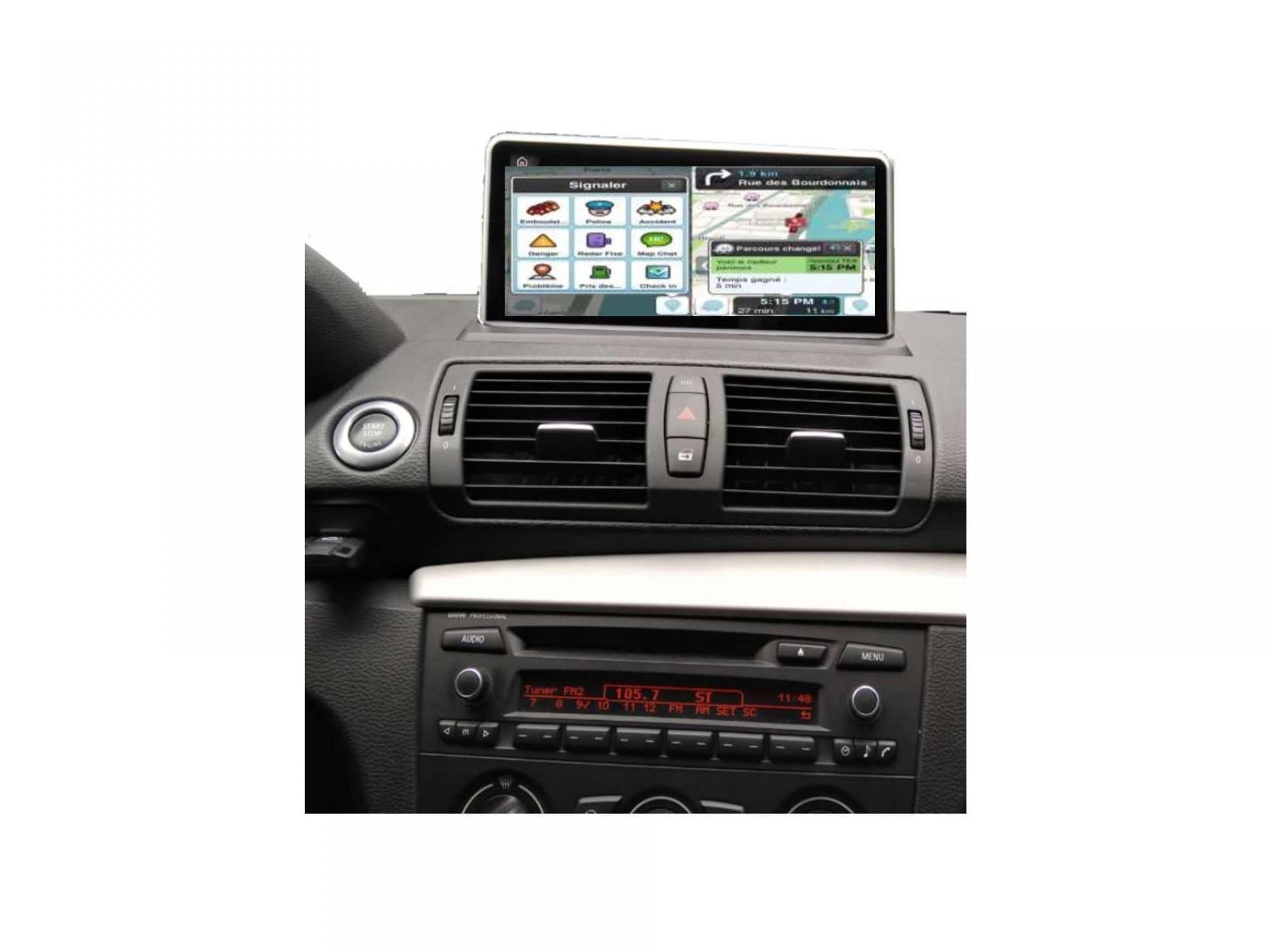 Bmw serie 1 e81 e82 e87 e88 autoradio gps carplay android auto bluetooth 4