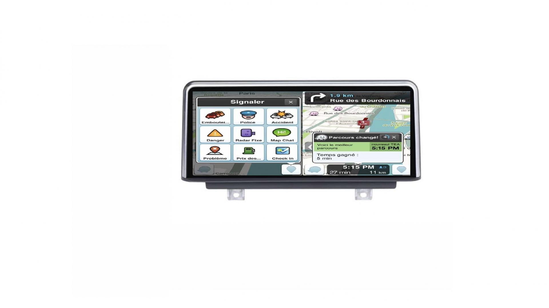 Bmw serie 1 f20 f21 autoradio gps bluetooth android auto carplay camera de recul commande au volant3