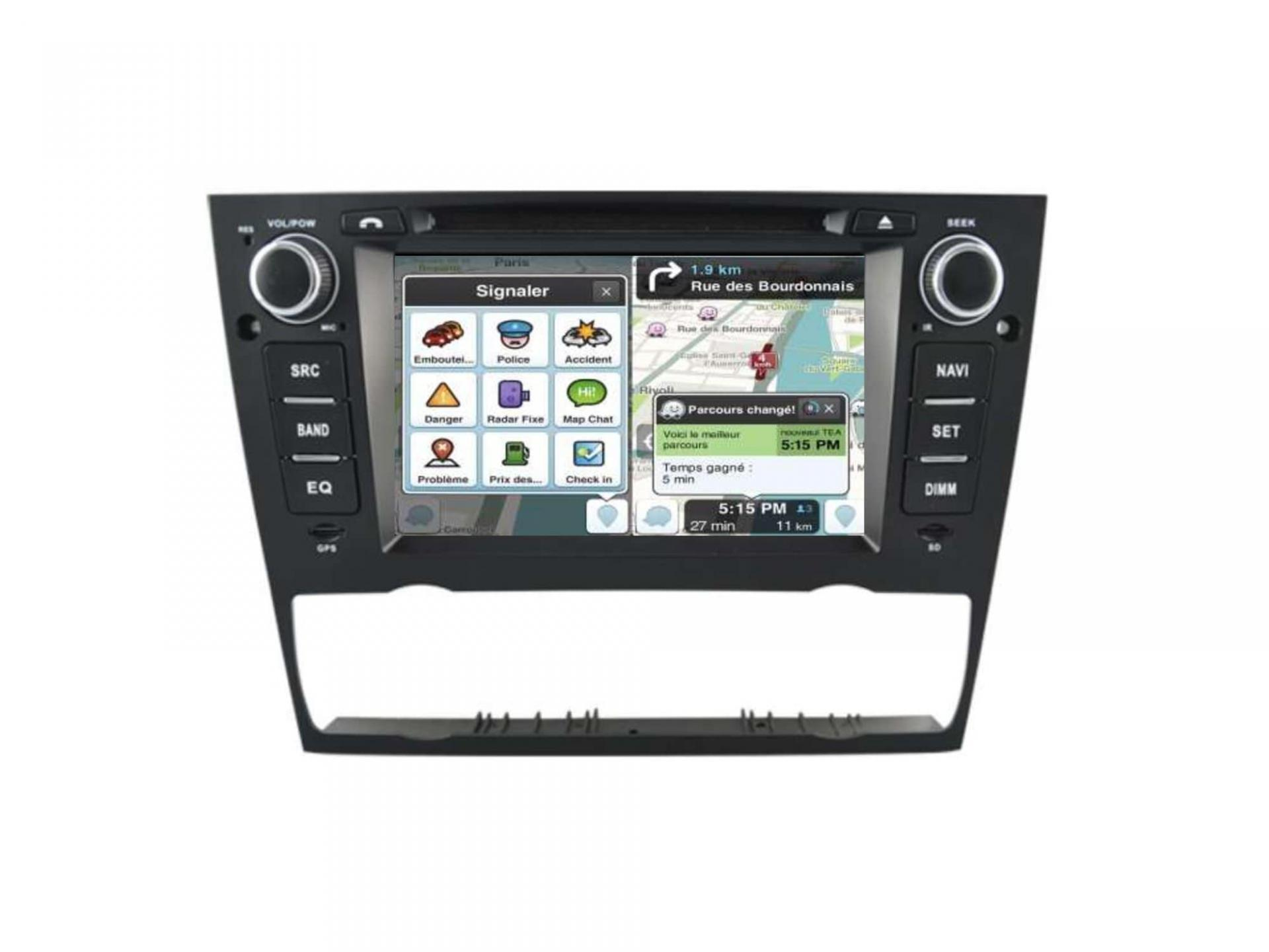 Bmw serie 3 e90 e91 e92 e93 autoradio gps carplay android auto bluetooth 5