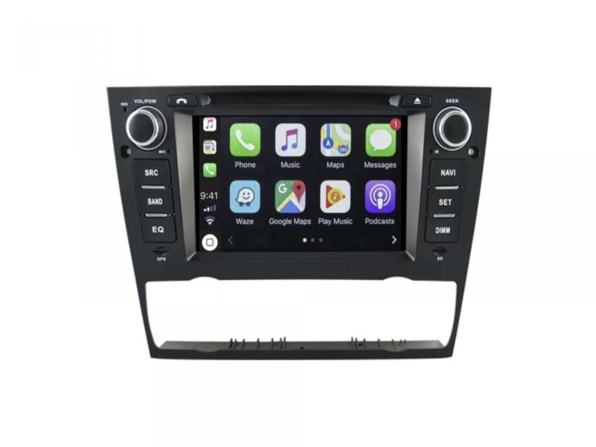 Bmw serie 3 e90 e91 e92 e93 autoradio gps carplay android auto bluetooth 6