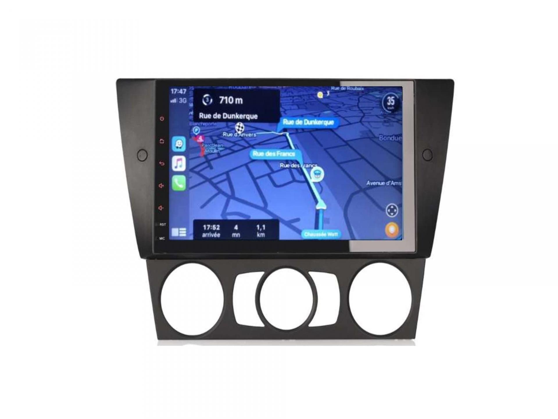 Bmw serie 3 e90 e91 e92 e93 autoradio gps carplay android auto bluetooth 7 1