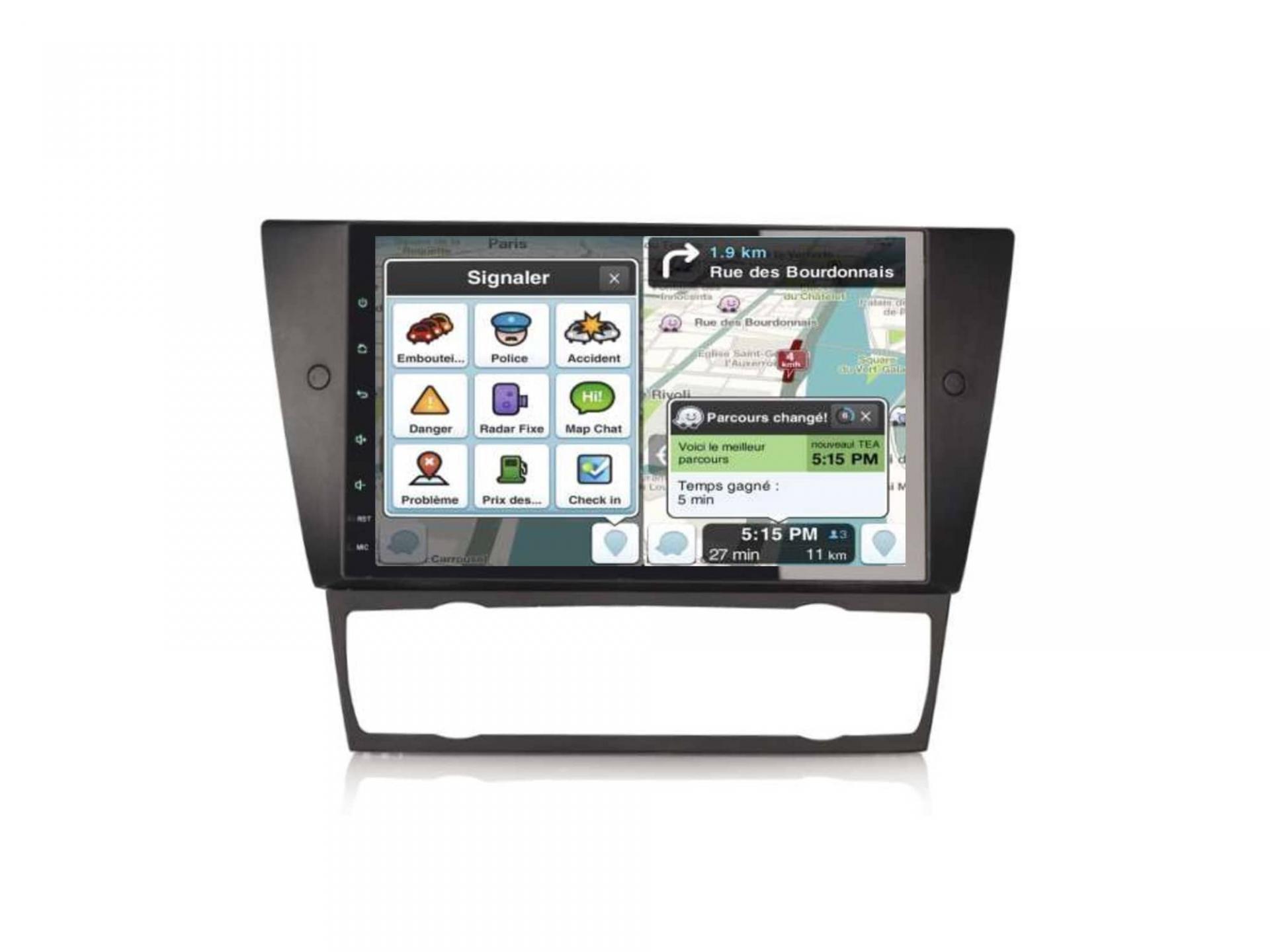 Bmw serie 3 e90 e91 e92 e93 autoradio gps carplay android auto bluetooth 8