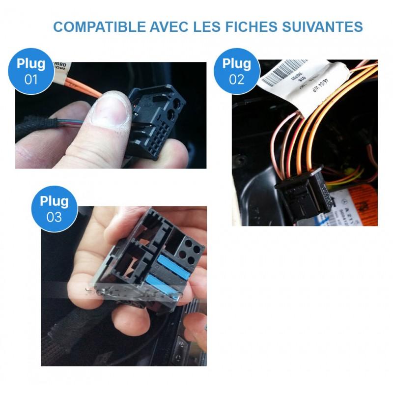 Boitier fibre optique mercedes classe a b c e porsche cayenne 2