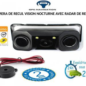 Camera de recul et radar de recul integre gps navigation fr 2 7
