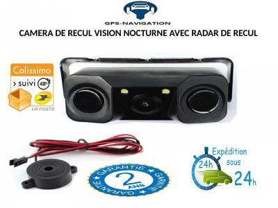 CAMERA VISION NOCTURNE + RADAR DE RECUL