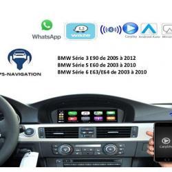 Boîtier Apple Carplay & Android Auto sans fil pour BMW Série 3 E90 de 2005 à 2012 et Série 5 et Série 6 de 2003 à 2010