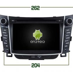 AUTORADIO ANDROÏD GPS BLUETOOTH HYUNDAI i30 depuis 2013 + CAMERA DE RECUL