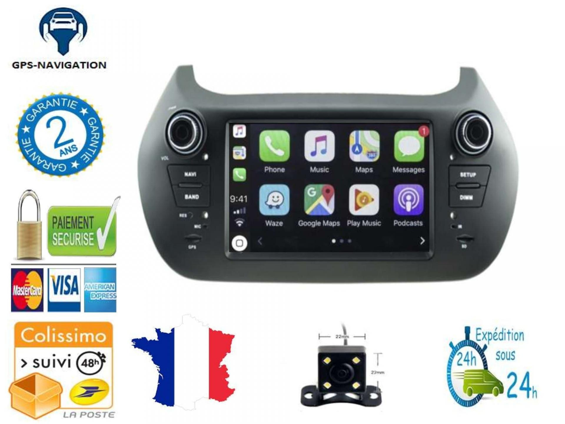Citroen nemo peugeot bipper fiat fiorino fiat qubo bmw gps carplay android auto gps bluetooth 2