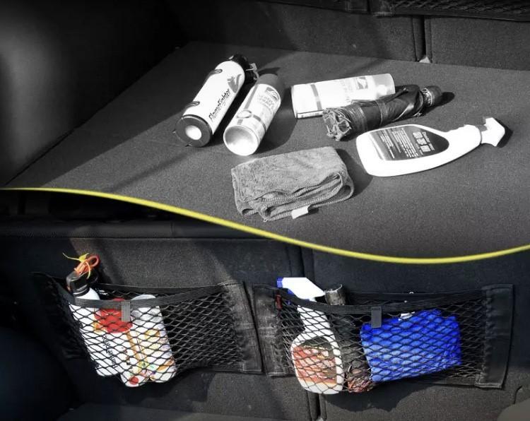 Filet organisateur pour coffre de voiture tous types de ve hicules couleur noir