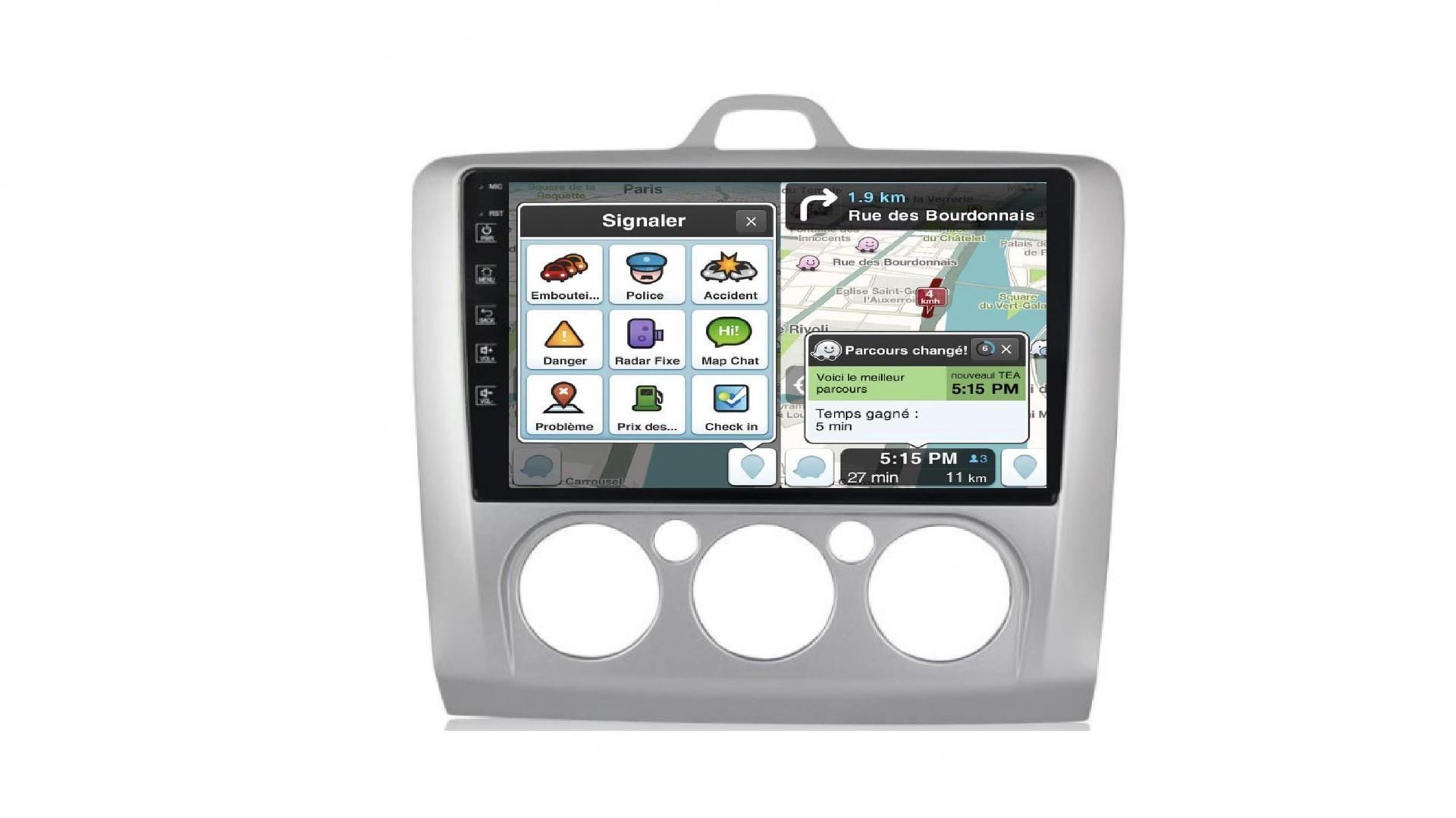 Ford focus clim manuel autoradio gps bluetooth android auto carplay camera de recul commande au volant3